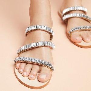 Anthropologie Embellished Slide Sandals size 10